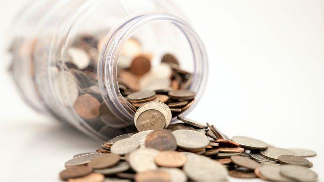 ビンからこぼれたコイン